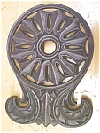 Click here to enlarge image and see more about item GEG800: Cast Iron Trivet Ornate Design Hopewell Rare