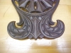 Click to view larger image of Cast Iron Trivet Ornate Design Hopewell Rare (Image4)