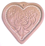 Click to view larger image of Hartstone Cookie Mold Folk Art Heart Roses (Image1)