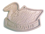 Click here to enlarge image and see more about item GEG981: Hartstone Cookie Mold Duck