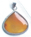 Click here to enlarge image and see more about item GEJEWEL392: Australian Carnelian Sterling Silver Pendant