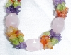 Click to view larger image of Choker Necklace & Bracelet Amethyst Peridot (Image2)