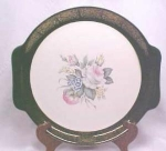 Large Rose Platter 22kt Gold Trim Quaker Girl