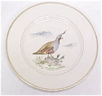 Click here to enlarge image and see more about item GLASS1322: Quail Plate Hand Painted Arabia Finland