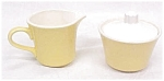 Yellow Creamer & Covered Sugar Bowl