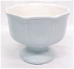 Click to view larger image of Blue Pedastal Planter Bowl Nice Color (Image1)