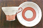 Click to view larger image of Aynsley Teacup & Saucer Beautiful Salmon (Image1)