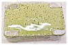 Click to view larger image of Pottery Planter Bowl Retro Lime Green Speckle (Image3)