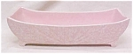 McCoy Art Deco Planter Pink Speckled