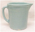 Click here to enlarge image and see more about item GLASS1790: Weller Pottery Pitcher Green Ribbed