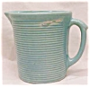 Click to view larger image of Weller Pottery Pitcher Green Ribbed (Image2)