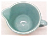 Click to view larger image of Weller Pottery Pitcher Green Ribbed (Image3)