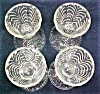 Click to view larger image of Ornate Pressed Glass Fruit Cups Elegant 4 PC (Image2)