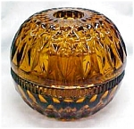 Click here to enlarge image and see more about item GLASS2114: Amber Glass Candle Holder 3 PC Nice Design