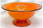Click to view larger image of Lancaster Glass Pedastal Bowl Orange 1920's (Image1)