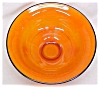 Click to view larger image of Lancaster Glass Pedastal Bowl Orange 1920's (Image2)