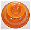 Click to view larger image of Lancaster Glass Pedastal Bowl Orange 1920's (Image3)
