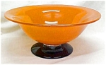 Click here to enlarge image and see more about item GLASS2421: US Glass Crystal Bowl Compote Footed  Orange