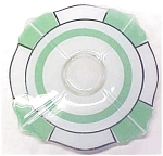 Click here to enlarge image and see more about item GLASS2947: Indiana Glass Green & White Platter 1920-30's