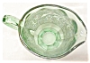 Click to view larger image of Green Depression Glass Creamer Ornate Silver (Image2)