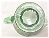 Click to view larger image of Green Depression Glass Creamer Ornate Silver (Image3)