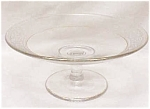 Click here to enlarge image and see more about item GLASS3232: Glass Cheese Comport Candle Holder Etched Flr
