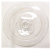 Click to view larger image of Glass Cheese Comport Candle Holder Etched Flr (Image2)