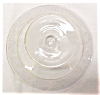 Click to view larger image of Glass Cheese Comport Candle Holder Etched Flr (Image3)