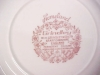 Click to view larger image of Grindley Bread Plates Red Transferware 4 PC (Image4)