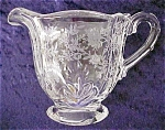 Click here to enlarge image and see more about item GLASS3635: Cambridge Rosepoint Creamer
