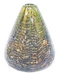 Click here to enlarge image and see more about item GLASS3696: Hand Blown Glass Vase Exquisite Colors Signed