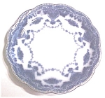 Click here to enlarge image and see more about item GLASS3772: Flow Blue Saucer Grindley England Waverley
