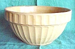 Click here to enlarge image and see more about item GLASS3921: Yelloware Mixing Bowl #10 Ribbed Pattern