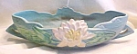 Click here to enlarge image and see more about item GLASS3943: Roseville Water Lily Console Bowl 441-10 Ca 1943