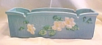 Click here to enlarge image and see more about item GLASS3947: Roseville White Rose Window Box Planter No 382 9 Inch
