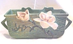 Click here to enlarge image and see more about item GLASS3956: Roseville Magnolia Planter Dbl Hdls 388-6 CA 1943