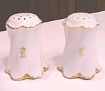 Click to view larger image of Salt & Pepper Rosenthal + Hat Pin Holder Violets German (Image1)