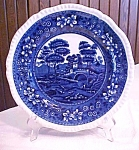 "Click to view larger image of Copeland Flow Blue Spode's Tower 9.5"" Plate (Image1)"