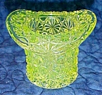 Click here to enlarge image and see more about item GLASS4123: LG Wright Vaseline Toothpick Holder Daisy Button
