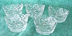 Click here to enlarge image and see more about item GLASS4162: Cut Crystal Salts (6) Basket Shape Design