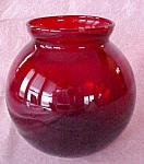 Click here to enlarge image and see more about item GLASS4228: Ruby Red Rose Flower Bowl Globe Shape