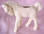 Pottery Pony Planter Horse Yellow