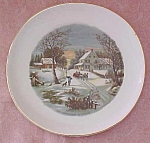 Crookville Homestead in Winter Plate Iva-Lure 8 inch