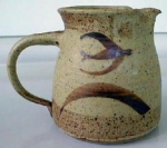 Click to view larger image of Hand Thrown Pottery Pitcher Nice Design (Image1)