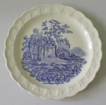 Click to view larger image of TST Blue Transferware Plate Castles (Image1)