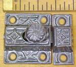 Click to view larger image of Antique Cupboard Latch Cast Iron Ornate Design (Image1)