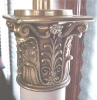 Click to view larger image of Stiffel Torchere Lamps Brass Pair Exquisite (Image2)