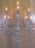 Click to view larger image of Candelabra Lamp Brass Marble Exquisite Large (Image2)