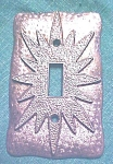 Click here to enlarge image and see more about item LIGHT937: Starburst Light Switchplate Ornate Pattern  1960's