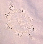 Click to view larger image of Table Cloth Floral Embroidered Linen LaceTrim (Image1)